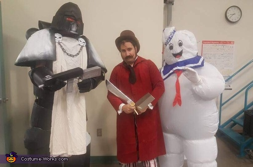 With two friends in costume for scale, Black Templar Costume