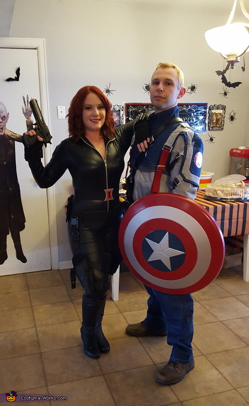 Black Widow And Captain America Couple Costume
