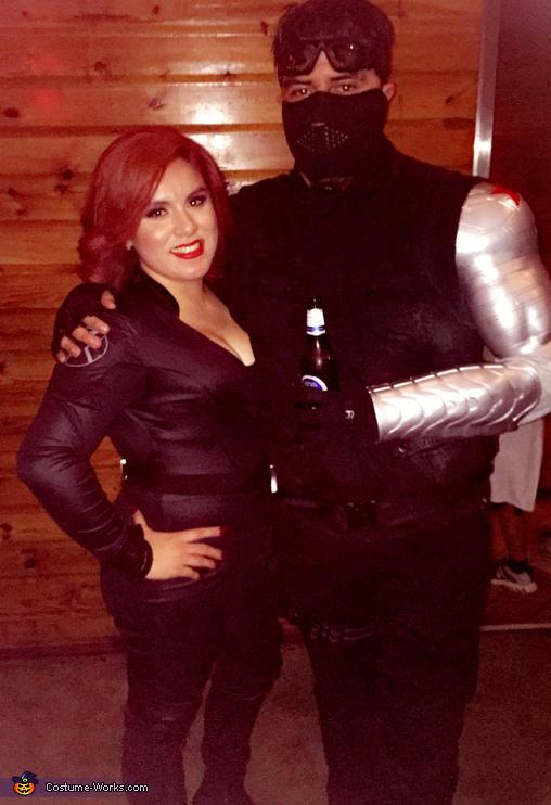 Black Widow & Winter Soldier Homemade Costume