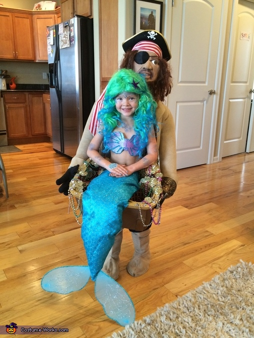 Blackbeard discovers Mermaid Homemade Costume