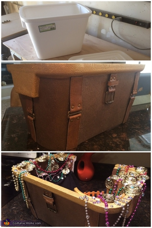 How I made the treasure chest., Blackbeard discovers Mermaid Costume