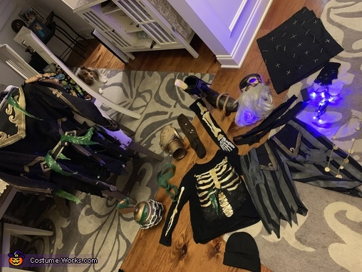 All the components, Blackheart Costume
