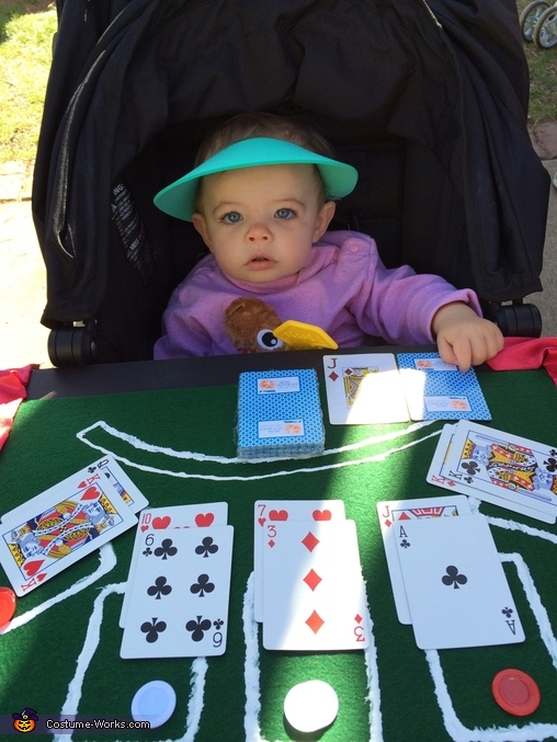 Blackjack Dealer Baby Halloween Costume