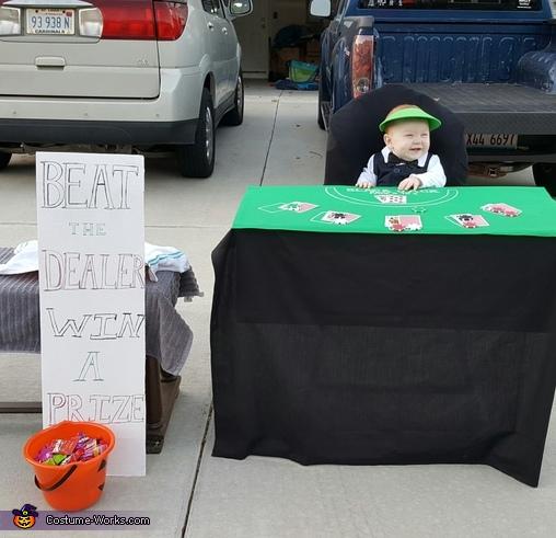 Blackjack Dealer Baby Homemade Costume