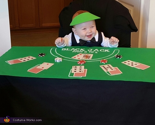 Blackjack Dealer Baby Homemade Costume