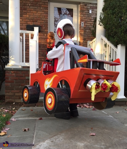 Blaze the Monster Machine and AJ his Driver Homemade Costume