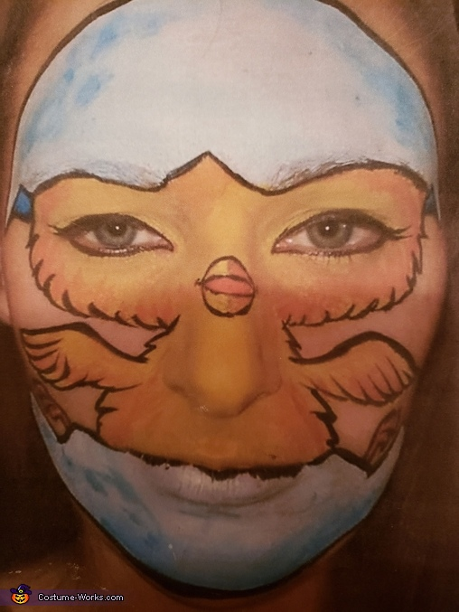 """Pintrest inspired face idea, Blazing Rider with Bike """"HER"""" Chick Costume"""