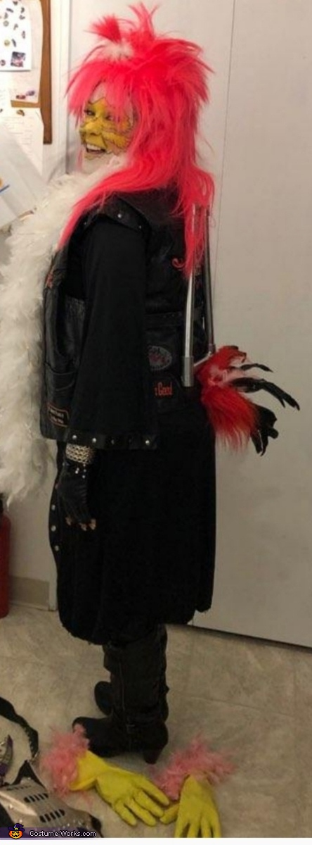 """Sissy bar n tail feathers, Blazing Rider with Bike """"HER"""" Chick Costume"""