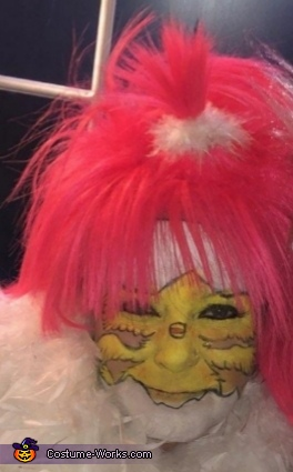 """Close up chicks face, Blazing Rider with Bike """"HER"""" Chick Costume"""