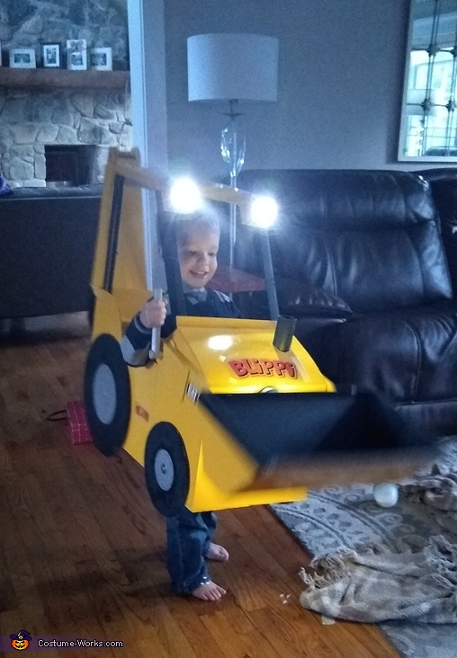 Blippi Backhoe Costume
