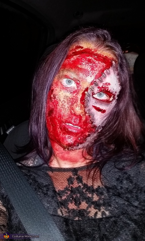 Head shot, Bloody Bride Costume