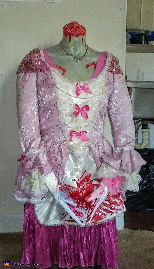 Bloody Headless Marie Antoinette Homemade Costume