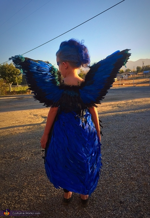 Blue Bird Girl Homemade Costume
