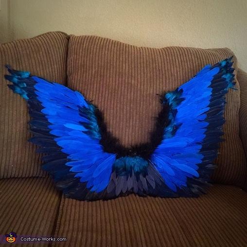 Blue Bird Girl Homemade Costume