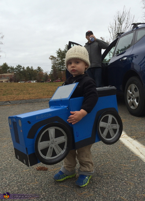 Blue Jeep Homemade Costume