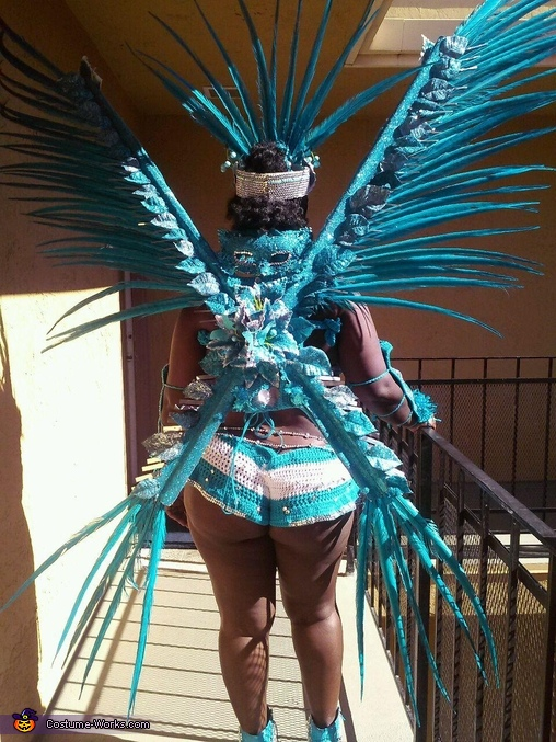 Blue Macaw Homemade Costume