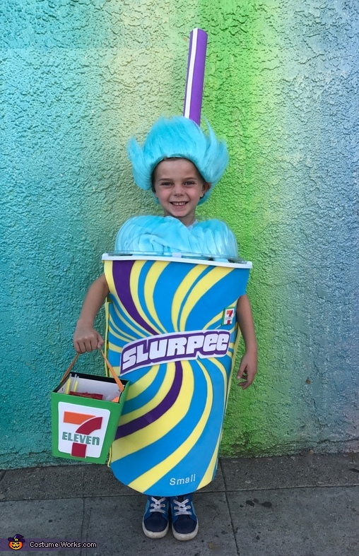 Blue Raspberry Slurpee Costume