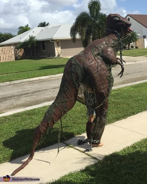 blue the raptor costume