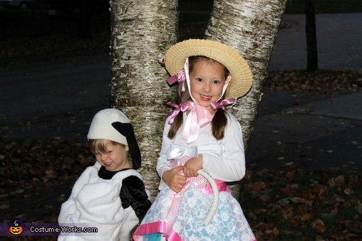Bo Peep and Her Sheep Homemade Costume