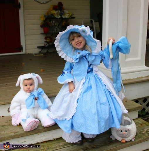 Holly Bo Peep and Natalie, the Sheepie Costume