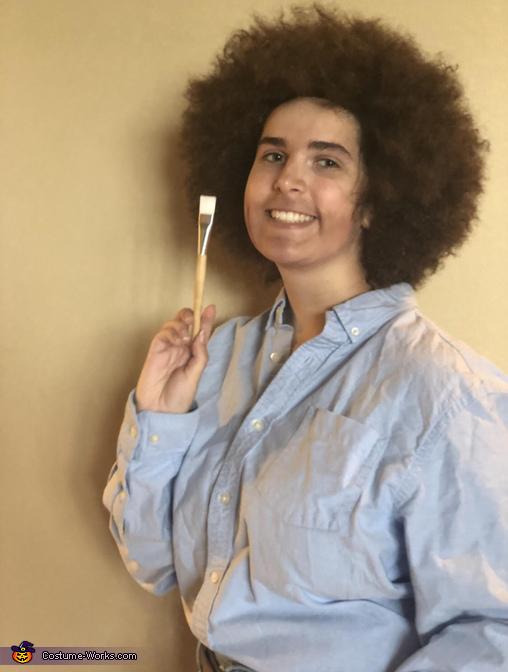Holding a brush, Bob Ross Costume