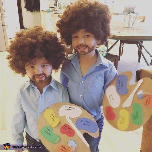 Bob Ross and Bob Ross Costume