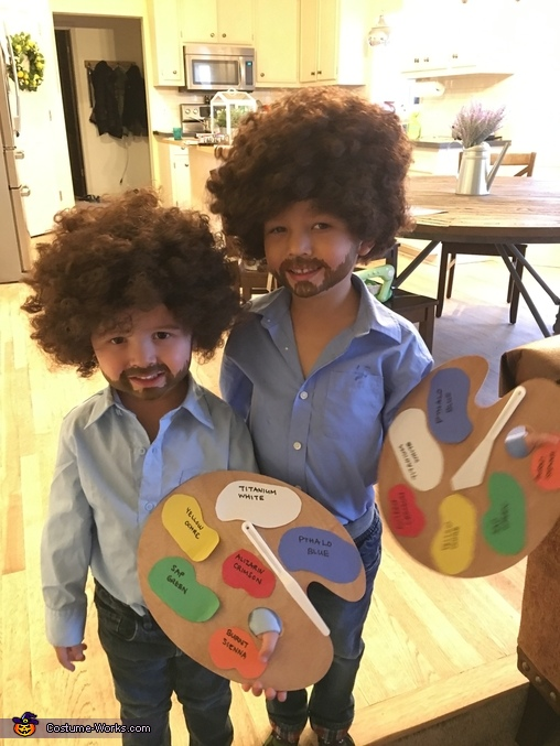 Bob Ross and Bob Ross Homemade Costume