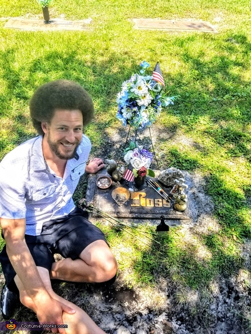 RIP Bob Ross Dedication photo May 19', Bob Ross and Happy Little Tree Costume