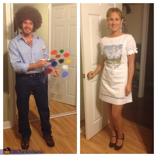 Bob Ross and his canvas, Bob Ross and his Canvas Couple Costume