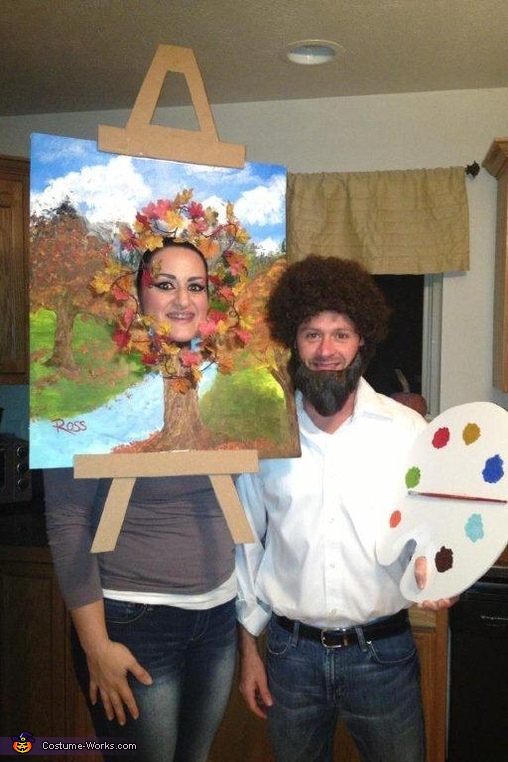 Bob Ross and his Happy Little Tree Costume