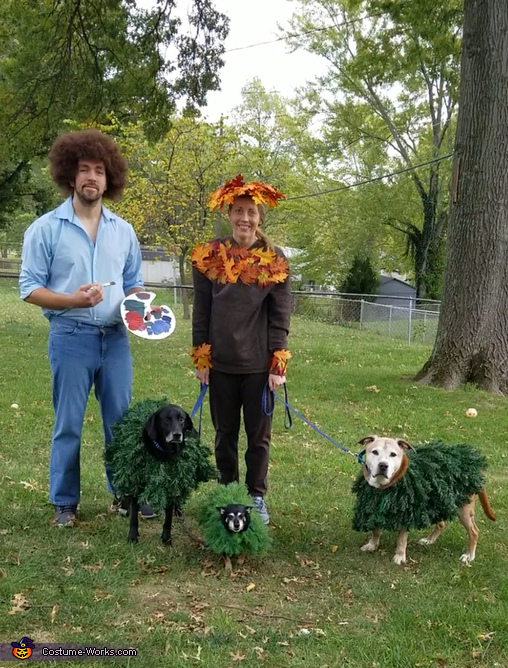 Bob Ross and his Happy Little Trees Costume