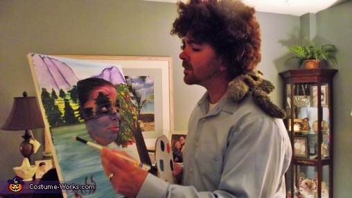 Bob Ross and his Happy Trees Homemade Costume