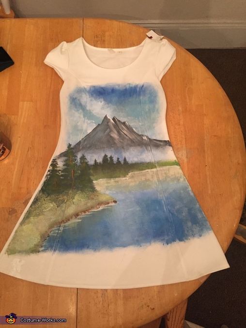 Bob Ross and Painting Homemade Costume