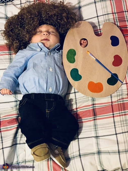 Bob Ross Baby Homemade Costume