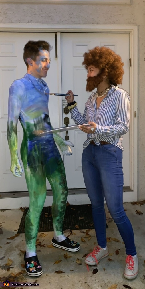 Bob Ross & His Happy Little Painting Homemade Costume