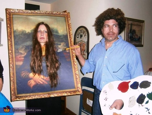 bob ross mona lisa costume