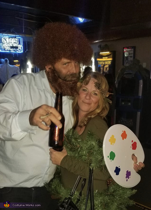 Bob Ross & The Happy Tree Costume