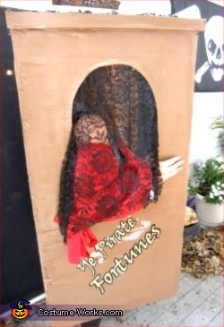 This is a SIDE-VIEW of the Fortune Tellers Booth, Pirate Fortune Teller Costume