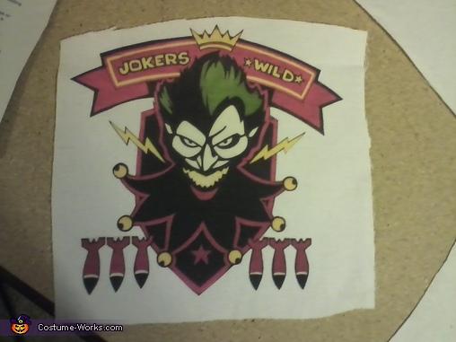 Back Patch design, Bombshell Harley Quinn Costume