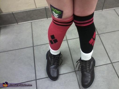 Socks shot, Bombshell Harley Quinn Costume