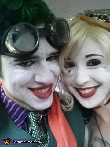 aint we the cutest?, Bombshell Harley Quinn and Fighter Pilot Joker Costume