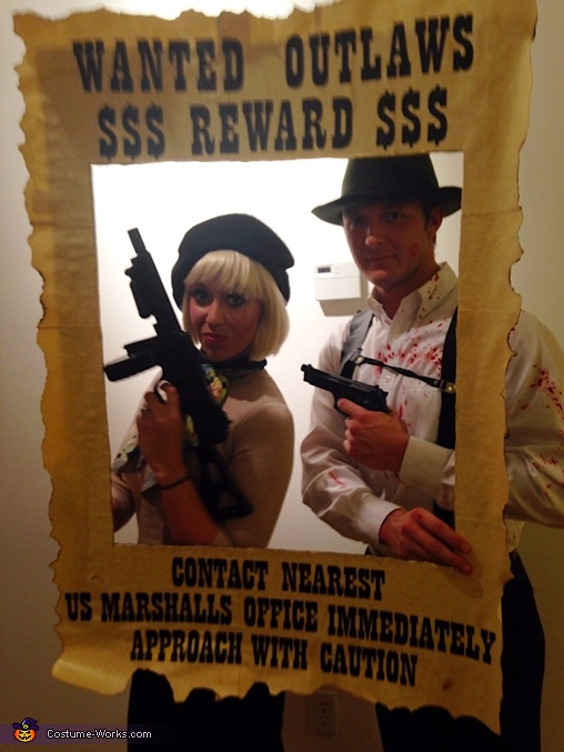 Wanted Poster, Bonnie & Clyde Costume