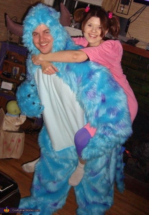 Boo and Sully from Monsters Inc Couples Costume