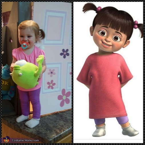 Boo from Monster's Inc Homemade Costume