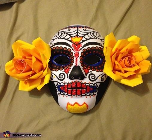 Finished Le Meurte mask, La Muerte Costume