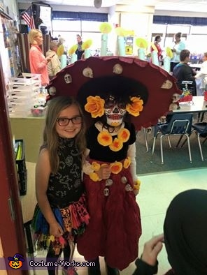 My daughter in Le Meurte costume at school, La Muerte Costume