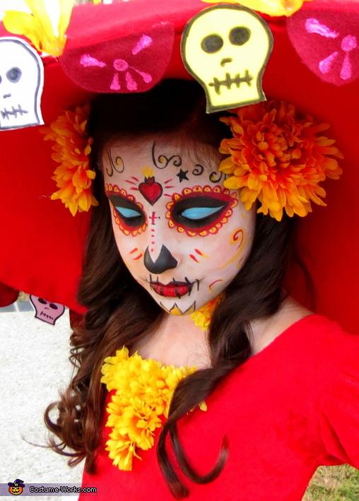 La Muerte (Book of Life) Makeup, Book of Life La Muerte Costume