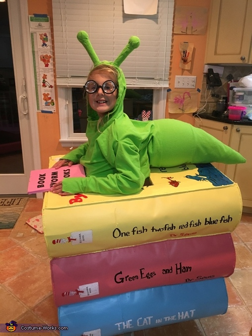 Book Worm-making sure it works, Book Worm Costume