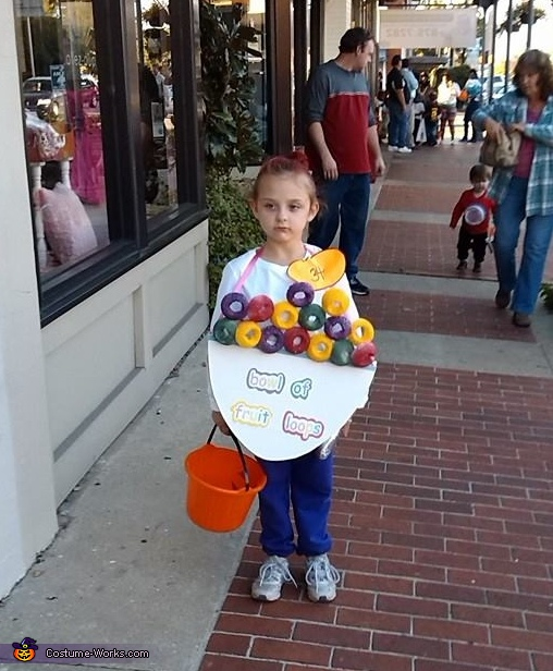 Bowl of Fruit Loops Costume