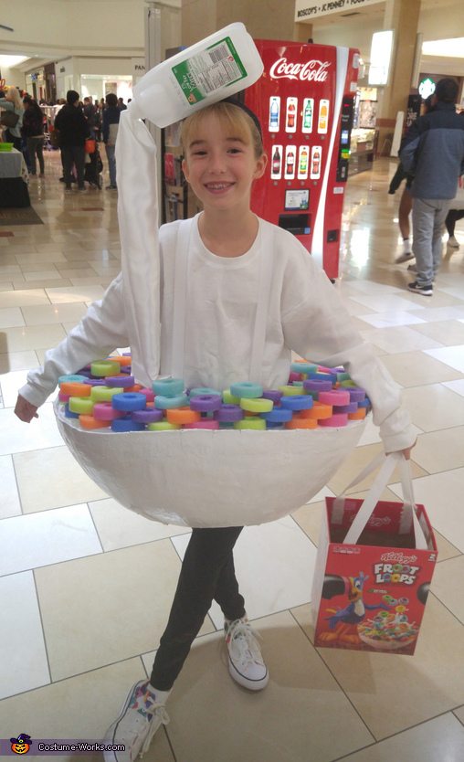 I am getting hungry for some fruit loops!!!, Bowl of Fruit Loops Costume